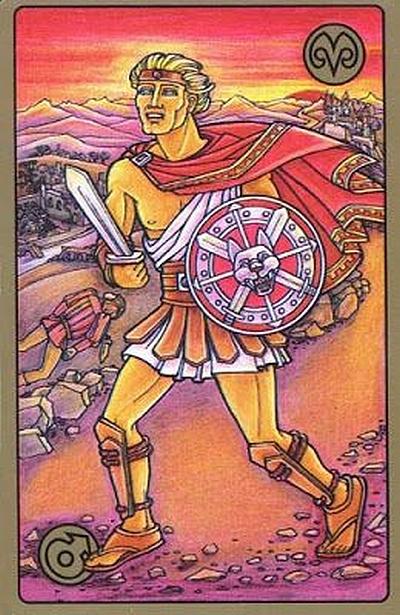 Carte Tarot Symbolon - Bélier - Le Guerrier - Daphnée Seurin - Astrologue