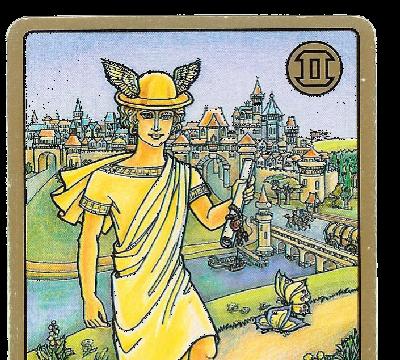 Carte Tarot Symbolon - Gémeaux - Le Messager - Daphnée Seurin - Astrologue