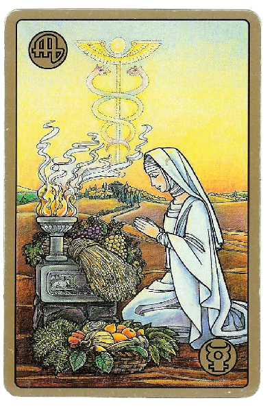 Carte Tarot Symbolon - Vierge - La Servante - Daphnée Seurin - Astrologue